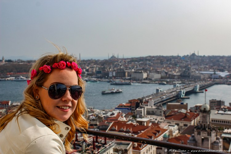 Views from the Galata Tower Observation Deck at 55m high - how many mosques do you spot?