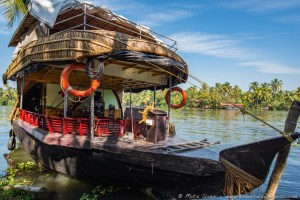 Houseboat on Canal Backwaters, Alleppey, Kerala, India