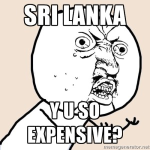 Mike and I in Sri Lanka, all the time.