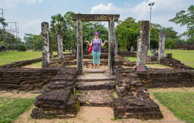 Exploring some of the quieter ruins of Polonnaruwa.