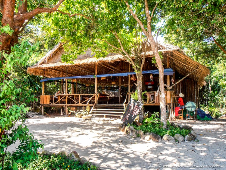 The little restaurant by the beach in Koh Rong that we found.