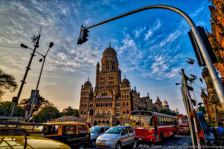 The UNESCO World Heritage listed Chhatrapati Shivaji Terminus in Mumbai.