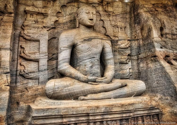 The seated Buddha of Gal Vihara.
