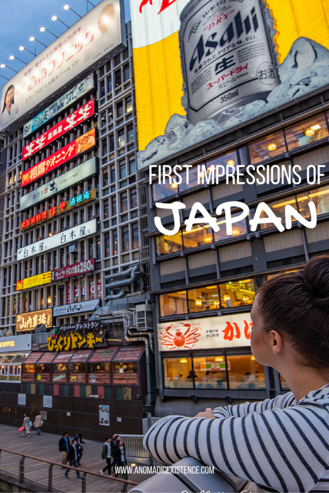 First Impressions of Japan