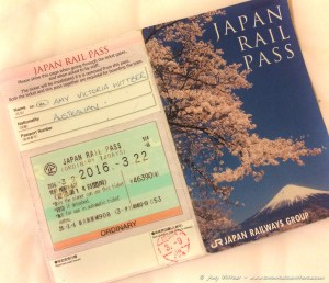 A Japan Rail Pass - you'll receive this in Japan after turning in your Exchange Order.