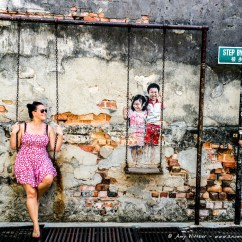 Swing Chair Penang Orange Leather Club Exploring Street Art In A Nomadic Existence