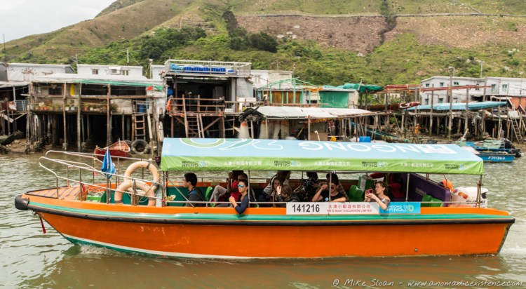 Small boats available for tours of the village.