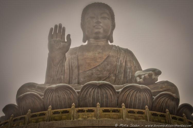'Big Buddha' shrouded by mist...