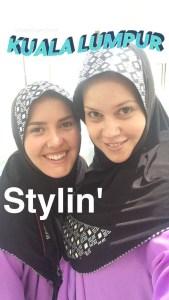 Sasha & I exploring the National Mosque in Kuala Lumpur.
