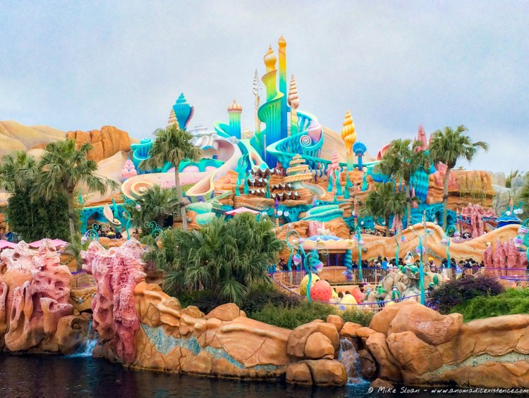 King Triton's Castle, the centrepiece of the Mermaid Lagoon themed area - it felt like I was in the movie!