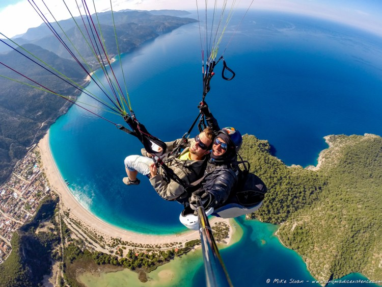A perfect birds eye view over Oludeniz.