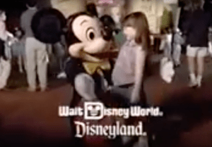 A screen grab from a Disneyland commercial, circa early 90's. Image via YouTube.