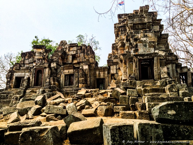 Wat Ek Phnom Temple Ruins, Battambang, Cambodia
