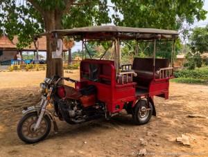 Tuk Tuk, Wat Ek Phnom, Battambang, Cambodia
