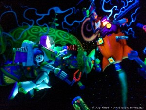 Defeating the evil Emperor Zurg!