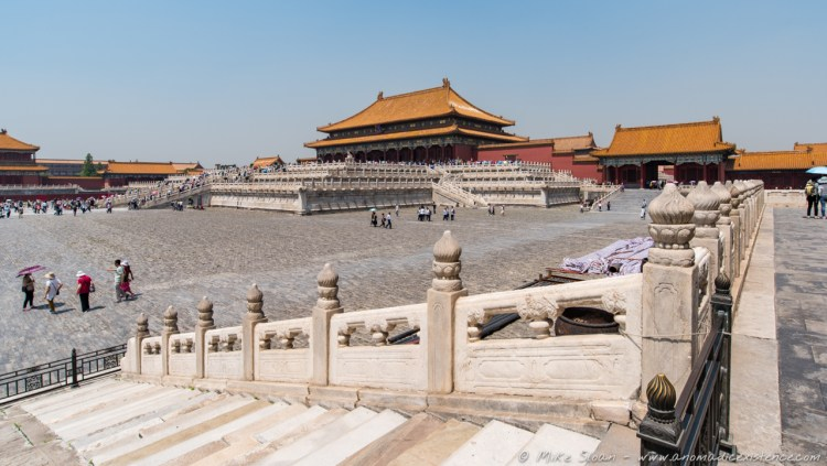 One of many courtyards of the Forbidden City.
