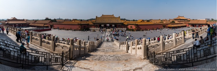 A panorama of the Forbidden City.