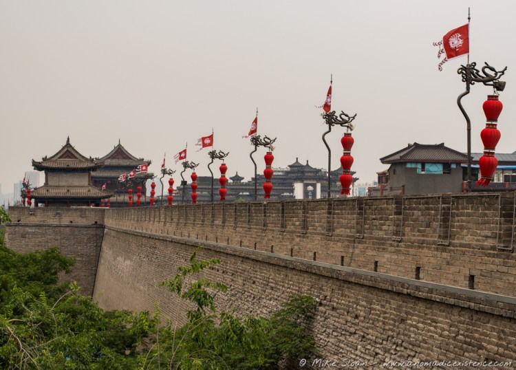 The ancient city walls of Xi'an are so gorgeous!