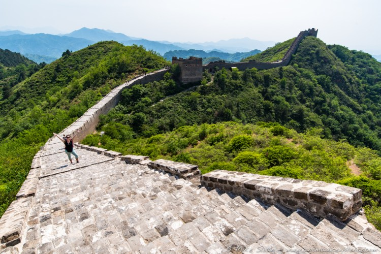 A particular steep section of the Great Wall!