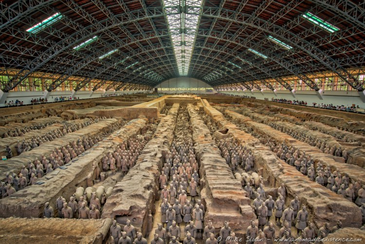 Such a phenomenal site - over 2000 warriors are on display in Pit 1.