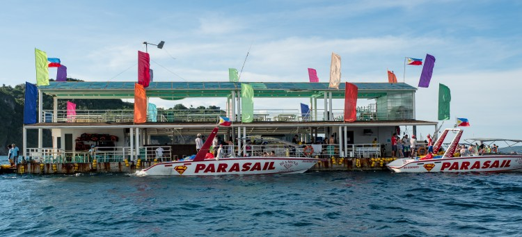 The main departure point for all water sports in Boracay.