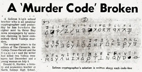 """Almost 35 years ago, robert graysmith published his blockbuster book, """"zodiac"""", and claimed to solve a famous unsolved zodiac killer cipher. The Zodiac Killer: Terror and Mystery   Anomalien.com"""