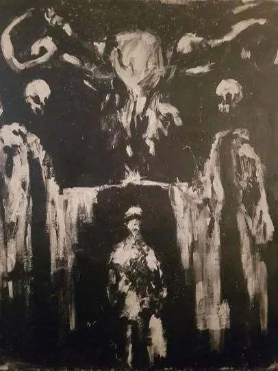 Peinture sinistre