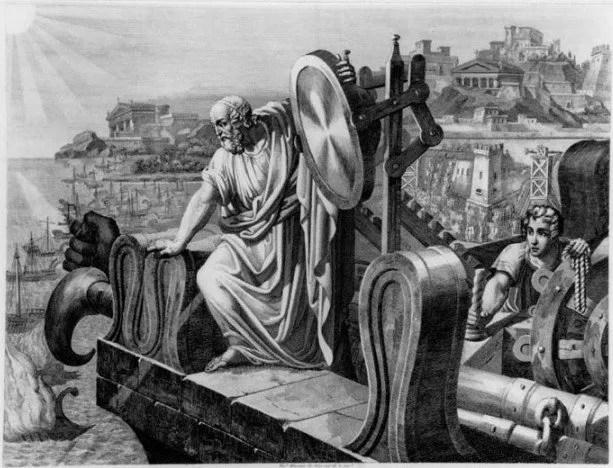 Archimède et le miroir ardent