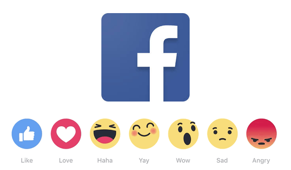 how to use reactions on facebook