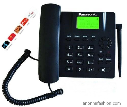 PANASONIC DUAL SIM FIXED WIRELESS PHONE WITH FM RADIO