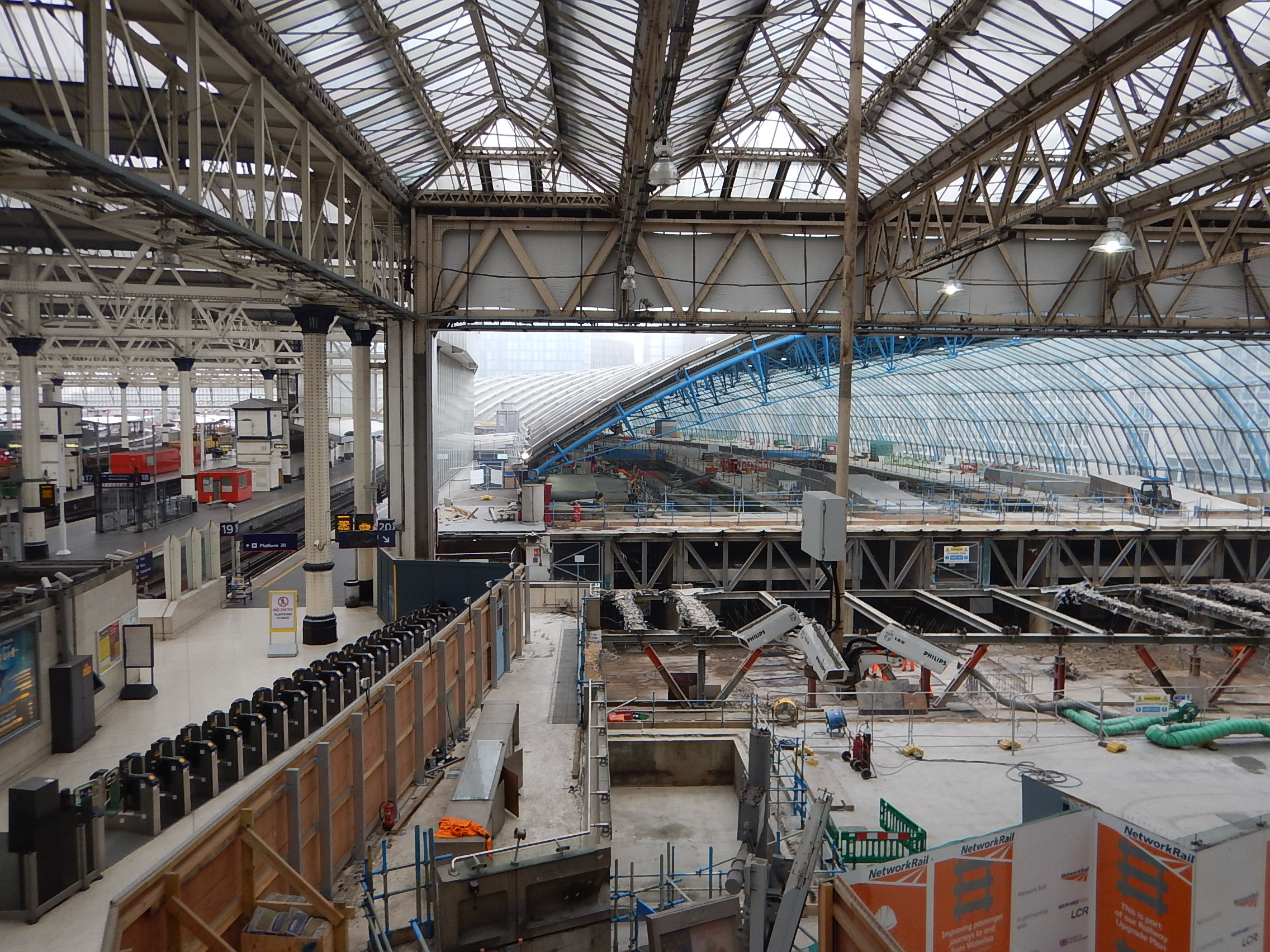 The Eurostar Platforms At Waterloo Station Are Being