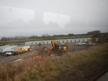 The Work Site Between The River And The Railway