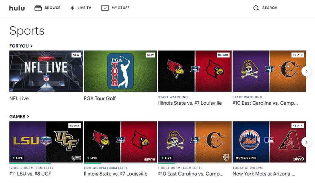 Hulu sports