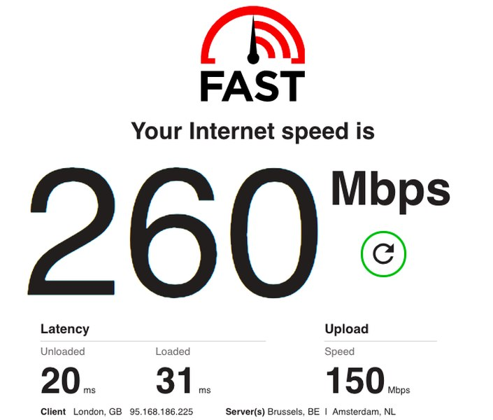 BulletVPN Speed Test 3