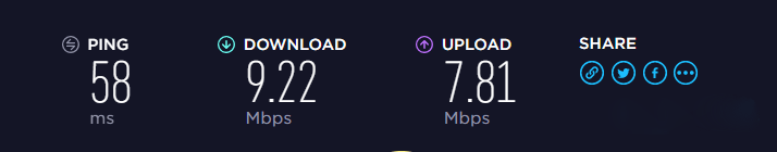 Speed Test 2: Nearby IPVanish Server