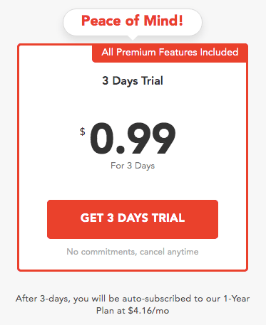 PureVPN free trial cost