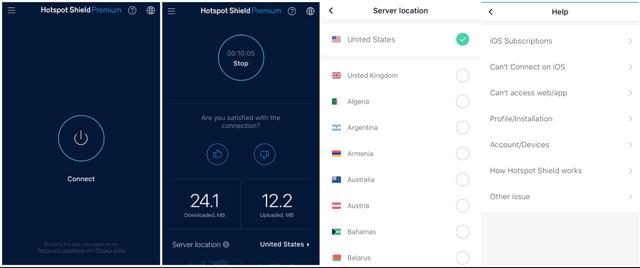 Hotspot Shield iOS App