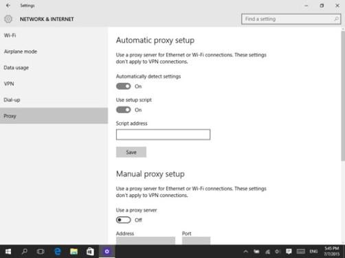Proxy for Windows