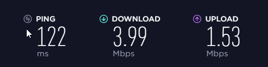 Surfshark speed test 2: Nearby server