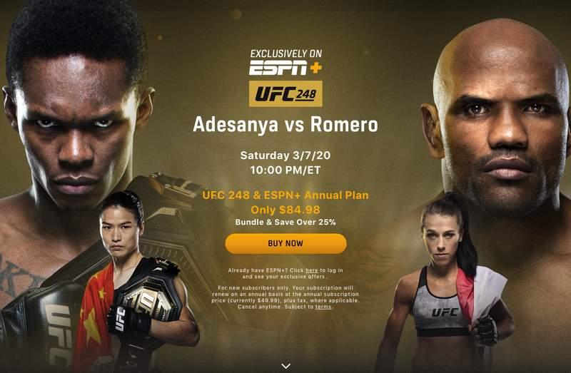 UFC 248 on ESPN+