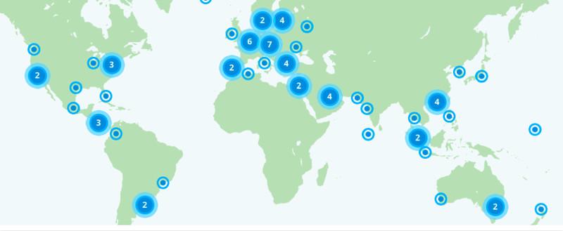 VyprVPN Server Network