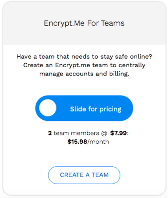 Encrypt.me VPN Pricing for Teams