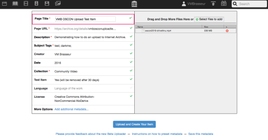 pic of the metadata form