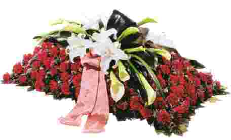 Funeral Sheaf with Ribbon in Italy
