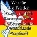 Deutsche Friedenstaube Konsequenz