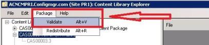 ContentLibraryExplorer Package Validate INVALID Package