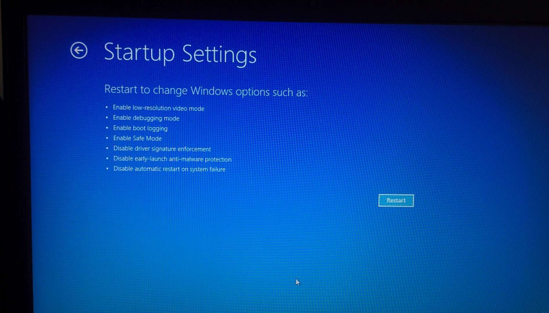 how to start recovery mode windows 10