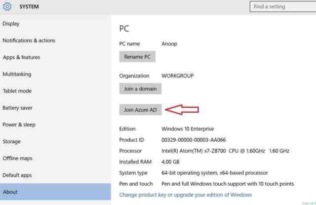 Windows 10 RTM - Azure AD Join -2