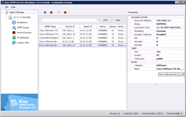 SNMP Device Simulator Console -1