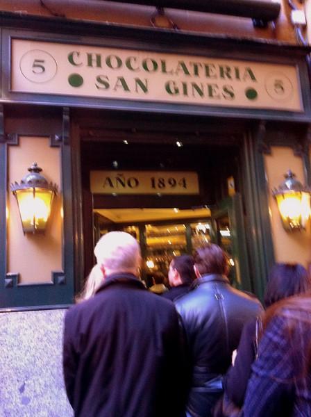 Chocolateria San Gines, Puerta del Sol, Madrid